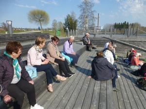 Avslutningsfika vid Kyrksjön i Ljusdal. Bild:  Maj-Britt Norlander