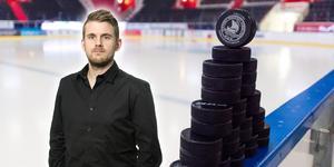 Andreas Hanson om den nya vägen upp från hockeyettan och hockeyallsvenskan till SHL. Foto: Bildbyrån