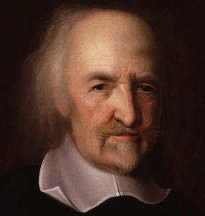 Thomas Hobbes, målning av John Michael Wright.