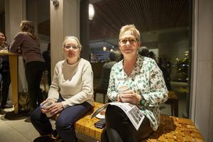 Monica Andersson, Bergby och Stina Norelius, Gävle, dök upp förutsättningslöst men hoppades på en trevlig kväll.
