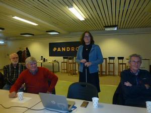 Från vänster: Lars Johansson, Stig-Ove Lindgren, Erika Berg VD Pandrol AB och Olle Rask.  Läsarbild: Maj-Britt Norlander.