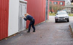 Polisen utförde en brottsplatsundersökning på onsdagsmorgonen. Ulf Johansson önskar grindar och staket mellan Sturehallen och ishallen. Något han ska ta upp med ansvariga på kommunen.