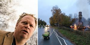 Foto: Sara Strömberg/Maria Immefors. Anders de Sinegube är fastighetschef och säkerhetsansvarig på Jamtli. Stugan som ligger utanför Jamtliområdet kallas för Grindvaktarstugan. Arkivbild.