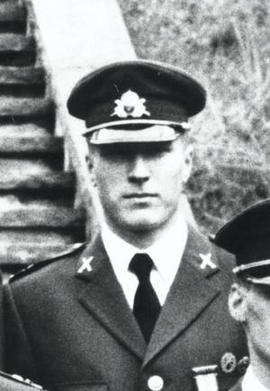 Arkivbild/TT. Mattias Flink klädd i sin uniform. Tiden innan dödsskjutningarna hade flera vittnat om att han mådde psykiskt dåligt.