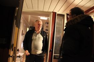 Lennart var en av alla Bomhusbor som Lars Beckman och AB ledare hade ett längre samtal med.