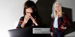 Linnea Holgersson väljer alltid att se en skräckfilm när hon är ensam hemma. Foto: TT