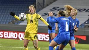 Anna Anvegård hoppade in när Sverige tog storseger