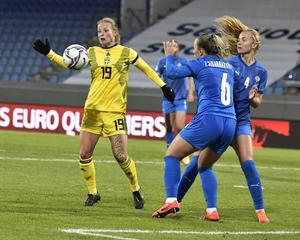 Island-Sverige slutade 1–1. Foto: Janerik Henriksson/TT