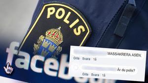 En kommentar som en polischef från Västernorrland misstänks ha skrivit. Bild: Arkiv/Facebook (montage)