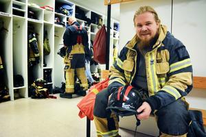 André Lindberg, deltidsbrandman i Björna, är en av eldhjältarna från den intensiva brandsommaren 2018.