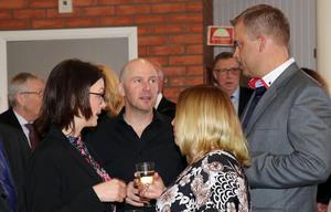 Magnus Nelhagen (till höger) närvarade i egenskap av nominerad till Årets företagare i Ånge kommun.