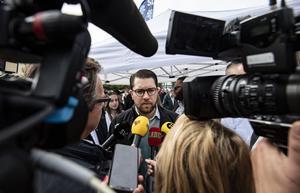 Jimmie Åkessons anhängare är de medborgare som känner lägst förtroende för media. Foto: Johan Nilsson / TT
