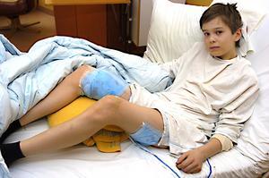 12-årige Olle Frisk vilar nu upp sig på barnavdelningen på Östersunds sjukhus.