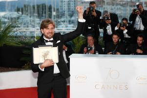 Ruben Östlund vinner Guldpalmen, det finaste priset på filmfestivalen i Cannes i maj. Arkivbild.