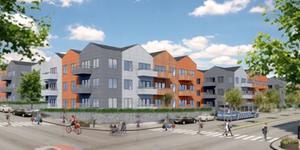 200 hyreslägenheter kommer snart att börja byggas i Bergtorp, Nykvarn. Inflyttning planeras redan till nästa höst. Illustration: I am Home