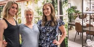Mor och döttrar. Regina Frejd (mitten), Emilia Frejd och Angelin Frejd öppnar tillsammans Evergreen Concept i Västerås.