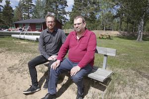 Robert Hamberg och Per-Ragnar Fredriksson hoppas att kioskverksamheten kan fortsätta nästa sommar. Dock förefaller de inte helt eniga om hur det bör skötas organisatoriskt.