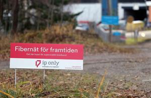 IP Only gräver just nu för att lägga fiberkabel i Baståsen, Bergsjö.