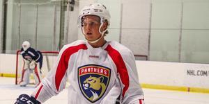 Tre år efter att han draftats har Linus nu skrivit SHL-kontrakt Foto: Kyle Morrison/Florida Panthers