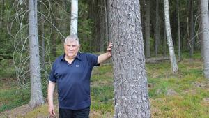 Gösta Axelsson äger mest skog i Sala.
