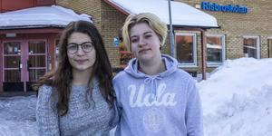 Nathali Falaha och Malin Norman på Risbroskolan i Fagersta, menar att lönen inte är den viktigaste när man ska välja gymnasieutbildning.