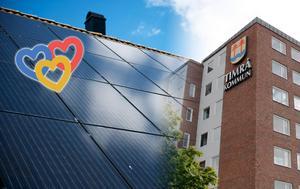 Solceller är positivt för miljön, Timrå kommun och skattebetalarnas plånböcker, skriver Timråpartiet. Bild: Björn Lindgren/TT / Lars Windh
