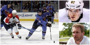 Niclas Bergfors och Sidney Crosby gick i samma draft 2005. Foton från LT och TT.