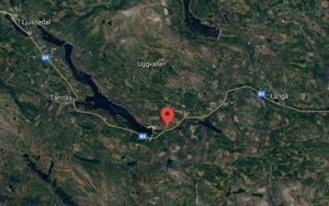 Google maps. Kartbilden anger ungefärlig position för den inträffade olyckan.