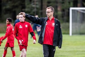 Niklas Berg, ledare för ett av Piteås lag i årets upplaga av Hudik Cup.