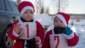 Charlie och Hugo Broström Meijer var de yngsta tomtarna.