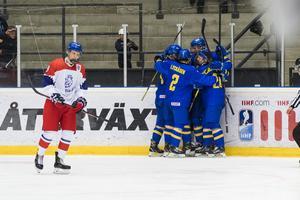 I kvartsfinal vann Sverige mot Tjeckien med 4–2. Foto: Jonas Forsberg/BILDBYRÅN
