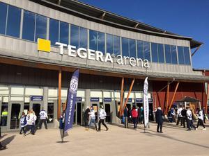 Stölden på Tegera Arena upptäcktes i somras.