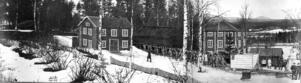 En skiss på hur det såg ut 1856. Bilden kommer från Elfdalens Hembygdsförening.