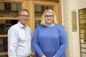 Peder Björk (S) och Viktoria Jansson (M).