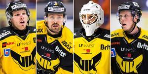 Fyra stekheta VIK-spelare. Foto: Tobias Sterner/Bildbyrån.
