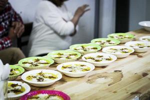 Internationell matkonst i glada färger.