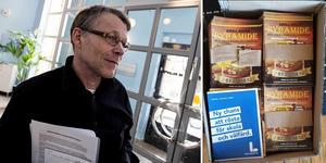 Liberalernas Svante Parsjö Tegnér fick ett lite oväntat innehåll i kartongen som skulle innehålla flygblad inför omvalet.