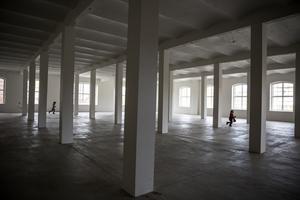 Lokalerna i den gamla Yllefabriken står kvar som när Lager 157 lämnade huset.