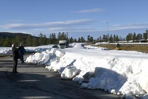 Snön redo på Idre Fjäll, i natt dras spåren upp.