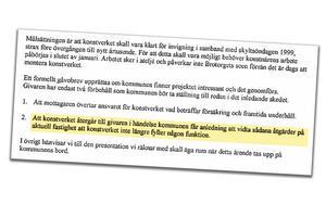 Skärmdump av beslutsprotokoll från 1999.