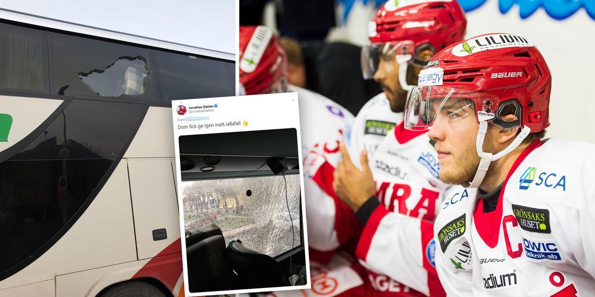 Efter attacken mot Timrå IK-bussen – vandaliseringen polisanmäls: