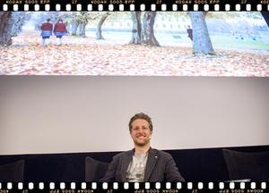 Alexander Rönnberg, producent och med i panelen i seminariet Filmrummet.