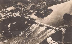 Flygfoto över Sollefteå. Ur Bo G Halls samlingar.