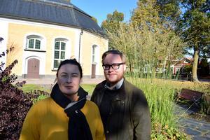 Jennie Tiderman-Österberg och Daniel Larsson arrangerar konserten Gamer i Gustafs kyrka.