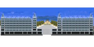 Bilden har tagits fram genom att kopiera delar av en ritning från det norrländska husutvecklingsföretaget Jupiter och Gran AB, som bygger moderna hus med en attraktiv arkitektur.