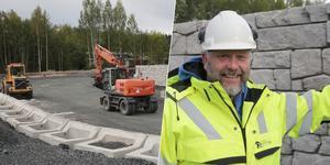 Bygget av den nya återvinningscentralen i Smedjebacken är så här långt det roligaste projektet i platschefen Matti Johanssons karriär.