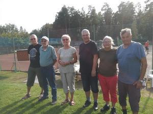 De två vinnande lagen: Trönö och Alfta. Foto: Lars-Göran Larsson.