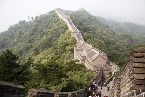 Kinesiska muren har förstås sin plats i boken
