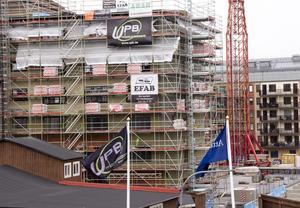 På Upplands Projektbyggs bygge vid Muréngatan i Gävle finns 16 polska byggarbetare, enligt utstationeringsregistret hos Arbetsmiljöverket.