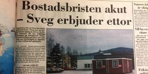 Bostadsbristen var akut i Sveg under slutet av 1998.